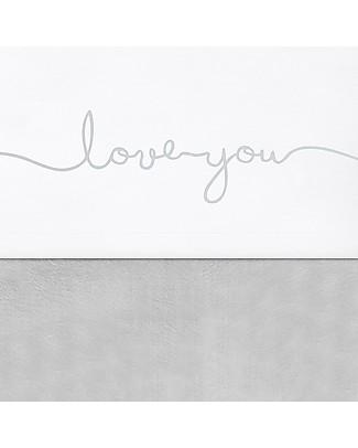 Jollein Lenzuolino per Culla Love You, Grigio Verde - 75x100 cm - 100% cotone Lenzuola