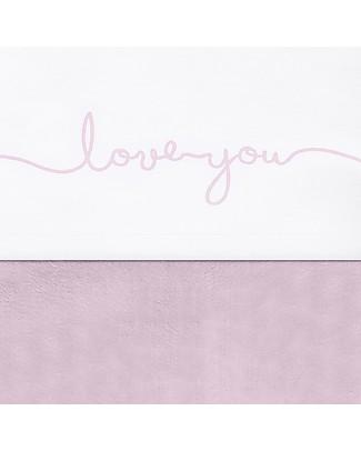 Jollein Lenzuolino per Culla Love You, Rosa - 120x150 cm - 100% cotone Lenzuola