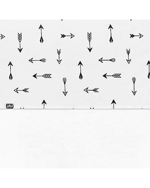Jollein Lenzuolo per Lettino Frecce Indiani - 120x 150 cm - 100% cotone Lenzuola