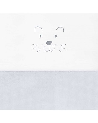 Jollein Lenzuolo per Lettino Leoncino, Grigio - 120x150 cm - 100% cotone Lenzuola