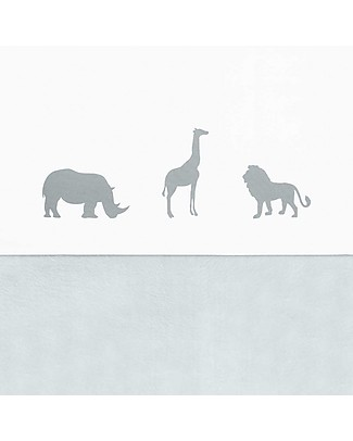 Jollein Lenzuolo per Lettino Safari, Grigio - 120x150 cm - 100% cotone Lenzuola