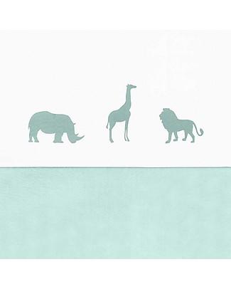 Jollein Lenzuolo per Lettino Safari, Verde - 120x150 cm - 100% cotone Lenzuola