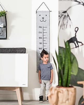 Jollein Misuratore d'Altezza per Bambini in Feltro, Orsetto - Da 70 a 140 cm! Decorazioni