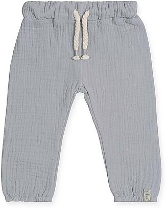 Jollein Pantaloni Baby Lunghi, Grigio - 100% cotone increspato Pantaloni Lunghi