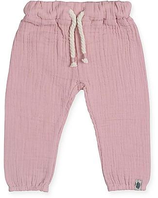 Jollein Pantaloni Lunghi Rosa - 100% cotone increspato Pantaloni Lunghi