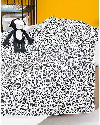 Jollein Set Copripiumino e Federa, Leopardato - 140x200 cm - 100% cotone Copripiumino e Federe