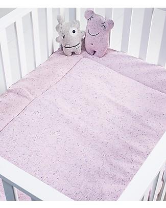 Jollein Trapunta per Culla, Rosa con stampa Coriandoli - 80x100 cm - 100% cotone Coperte
