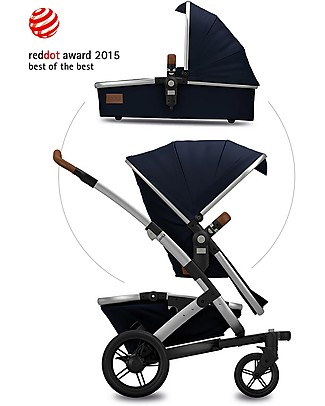 Joolz Passeggino Geo Earth II, Parrot Blue – Seduta + navicella + cestino XL Sistemi Combinabili