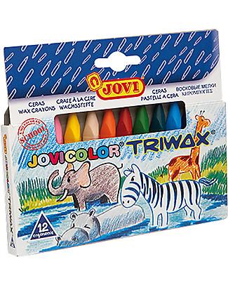 Jovi Pastelli a Cera Triangolari Trimax, Astuccio da 12 - Ottima idea regalo! Colorare
