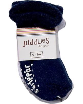 Juddlies Designs Calzini Bebè Antiscivolo, Pacco da 2, Bianco/Blu Calzini