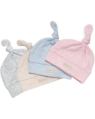 Juddlies Designs Cappellino Baby Breathe-Eze 0-4 Mesi, Grigio - 100% cotone, il caldo che respira! Cappelli