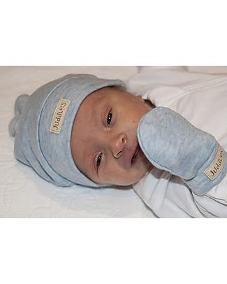 Juddlies Designs Cappellino Baby Breathe-Eze 4-12 Mesi, Azzurro - 100% cotone, il caldo che respira Cappelli Invernali