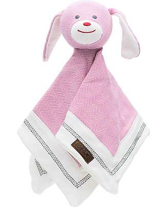 Juddlies Designs Doudou Cottage Collection, Sunset Pink Bunny - 100% Organic Cotton Blankets