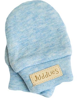 Juddlies Designs Moffole Baby Breathe-Eze 0-4 Mesi, Azzurro - 100% cotone, il caldo che respira! Guanti e Muffole