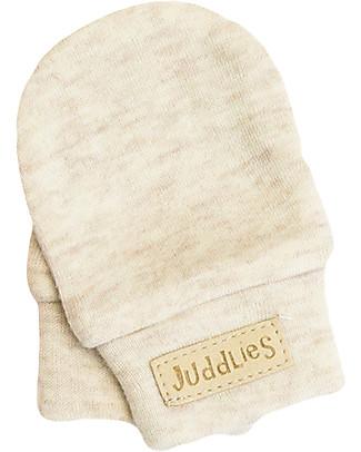 Juddlies Designs Moffole Baby Breathe-Eze 0-4 Mesi, Ecrù - 100% cotone, il caldo che respira! Guanti e Muffole
