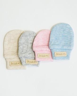 Juddlies Designs Moffole Baby Breathe-Eze 0-4 Mesi, Grigio - 100% cotone, il caldo che respira! Guanti e Muffole