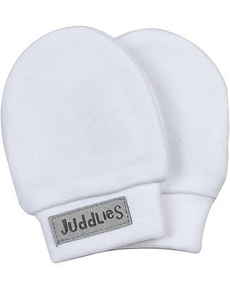 Juddlies Designs Moffole Baby Essential 0-4 Mesi, Bianco - 100% Cotone Bio Calzini