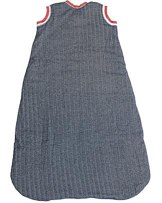 Juddlies Designs Sacco Nanna Cottage Collection 2,5 Tog, Blu+Rosso - 100% Cotone Bio Sacchi Nanna Pesanti