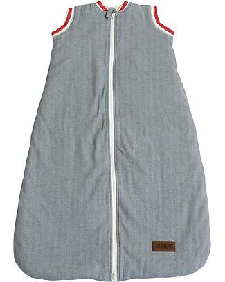 Juddlies Designs Sacco Nanna Cottage Collection 2,5 Tog, Grigio+Rosso - 100% cotone Sacchi Nanna Pesanti