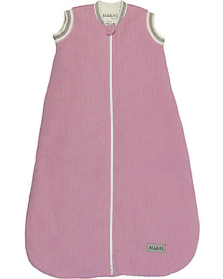 Juddlies Designs Sacco Nanna Cottage Collection 2,5 Tog, Rosa e Bianco - 100% Cotone Bio Sacchi Nanna Pesanti