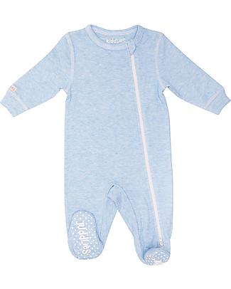 Juddlies Designs Tutina Breathe-Eze con Piedini Antiscivolo, Azzurro - 100% cotone, il caldo che respira null