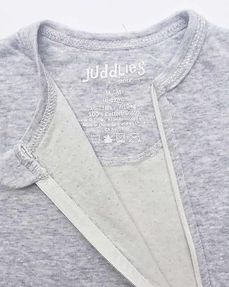 Juddlies Designs Tutina Breathe-Eze con Piedini Antiscivolo, Azzurro - 100% cotone, il caldo che respira Tutine Lunghe Con Piedi