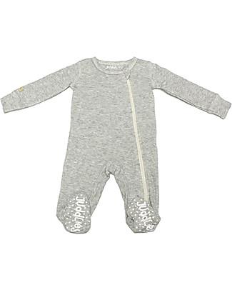 Juddlies Designs Tutina Breathe-Eze con Piedini Antiscivolo, Grigio - 100% cotone, il caldo che respira null