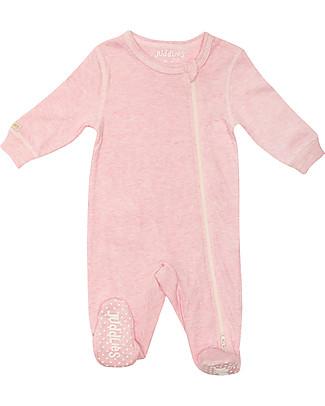 Juddlies Designs Tutina Breathe-Eze con Piedini Antiscivolo, Rosa - 100% cotone, il caldo che respira null