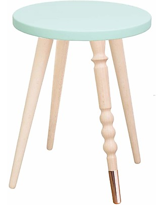 Jungle by Jungle Sgabello/Tavolino My Lovely Ballerine – Menta – Faggio e Rame – Alto 37 cm – Diametro 30 cm Tavoli