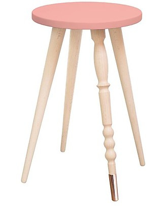 Jungle by Jungle Sgabello/Tavolino My Lovely Ballerine - Rosa Antico - Faggio and Rame - Alto 47 cm - Diametro 30 cm Sedie