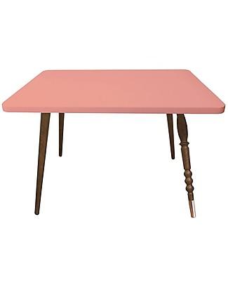 Jungle by Jungle Tavolino Rettangolare da Salotto My Lovely Ballerine - Rosa Antico - Noce e Rame - Alto 47 cm Tavoli