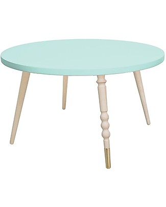 Jungle by Jungle Tavolino Tondo da Salotto My Lovely Ballerine – Menta – Faggio e Rame – Alto 37 cm – Diametro 60 cm Tavoli