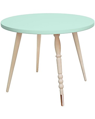 Jungle by Jungle Tavolino Tondo da Salotto My Lovely Ballerine – Menta – Faggio e Rame – Alto 47 cm – Diametro 60 cm Tavoli