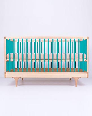 Kalon Studios Caravan Crib Lettino Azzurro - Convertibile 0-6 anni  Lettini Con Sbarre