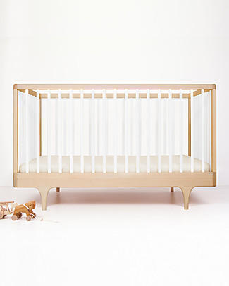 Kalon Studios Caravan Crib Lettino Bianco - Convertibile 0-6 anni  Lettini Con Sbarre
