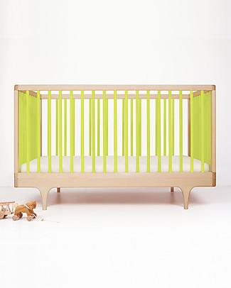 Kalon Studios Caravan Crib Lettino Verde Lime - Convertibile 0-6 anni  Lettini Con Sbarre