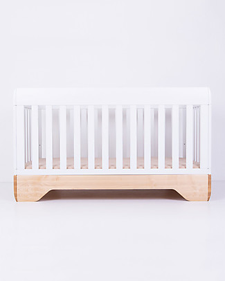 Kalon Studios Echo Crib Lettino Bianco - Convertibile a Junior Bed 0-6 anni Lettini Con Sbarre
