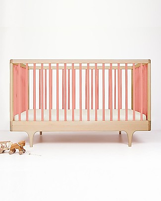 Kalon Studios OUTLET Caravan Crib Lettino Rosa - Convertibile 0-6 anni - Pezzo di Showroom Lettini Con Sbarre