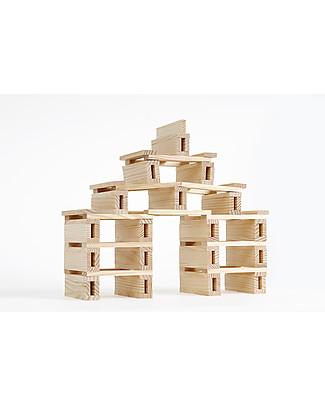 Kapla Kapla 200, Costruzioni in Legno + Libretto Tecnico, Naturale - Educativo e divertente! Construzioni In Legno