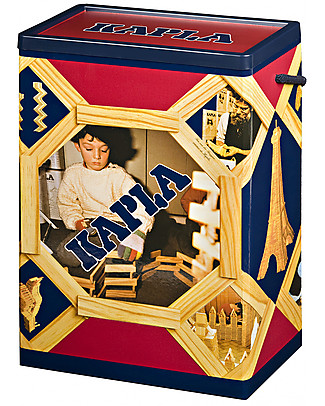 Kapla Kapla 200, Wood Tablets + Technical Booklet, Natural - Fun and educational! Wooden Blocks & Construction Sets
