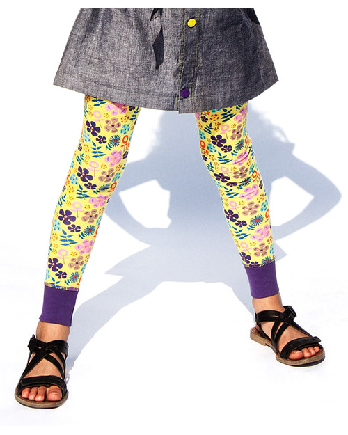 Katvig Leggings Gialli Wild Flowers - Cotone Bio  Leggings