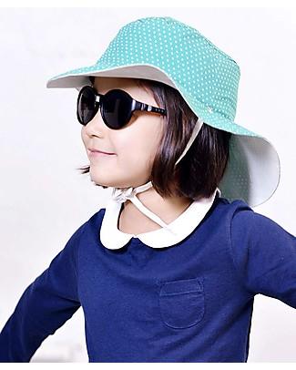 Ki et La Cappellino Reversibile – Anti-UV – Verde con Pois Bianchi Cappelli