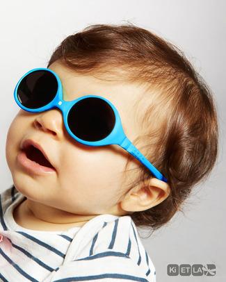 Ki et La Occhiali da Sole Baby Diabola 0-18 Mesi - Blu Pavone (2 taglie in 1!) - Anti UVA+UVB e Infrangibili! Occhiali