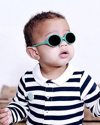Ki et La Occhiali da Sole Baby Diabola 0 -18 Mesi - Verde Smeraldo Anti UVA+UVB e Infrangibili! Occhiali