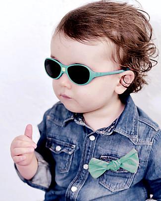 Ki et La Occhiali da Sole Baby Jokaki 12-30 Mesi - Verde Smeraldo - Anti UVA+UVB e Infrangibili! Occhiali