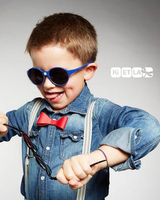 Ki et La Occhiali da Sole Bambini Jokakid's 4-6 Anni - Blu - Anti UVA+UVB e Infrangibili! Occhiali
