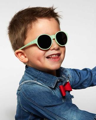 Ki et La Occhiali da Sole Bambini Jokakid's 4-6 Anni - Verde Menta - Anti UVA+UVB e Infrangibili! Occhiali
