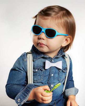 Ki et La Occhiali da Sole Bambini Jokala 2-4 Anni - Blu Pavone - Anti UVA+UVB e Infrangibili! Occhiali