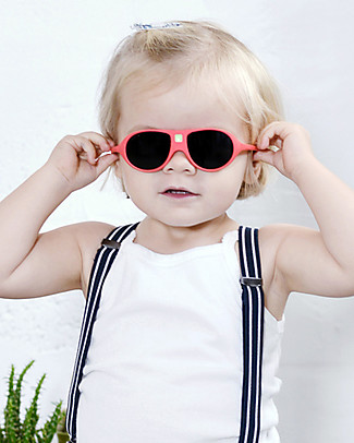 Ki et La Occhiali da Sole Bambini Jokala 2-4 Anni - Corallo - Anti UVA+UVB e Infrangibili! Occhiali