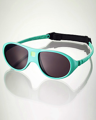 Ki et La Occhiali da Sole Bambini Jokala 2-4 Anni - Verde Smeraldo - Anti UVA+UVB e Infrangibili! Occhiali